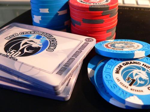 Plaques Poker MGM !